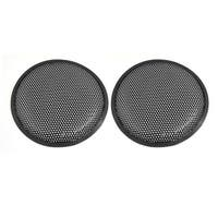 "Unique Bargains 8"" Car Subwoofer Metal Mesh Grill Speaker Cover Protector Guard Black 2 Pcs"