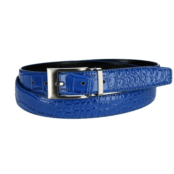 CTM® Leather Croc Print Belt