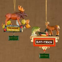 """Pack of 24 Field & Stream Hunting and Moose Christmas Ornaments 4"""" - multi"""