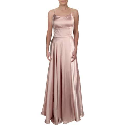Betsy & Adam Womens Evening Dress Satin Strappy