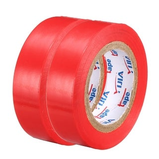 """PVC Electrical Insulating Tape Single Sided 21/32"""" Width 49ft 20mil Red 2pcs - 20 mil Thick, Red"""