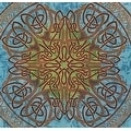 Handmade 100% Cotton Celtic Circle Tie Dye Wheel Of Life Tapestry Spread Twin Blue Beach Sheet Dorm Decor in Twin Full Queen - Thumbnail 2