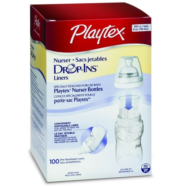 Playtex Drop-Ins Disposable Liners 4-Ounce 100 Each
