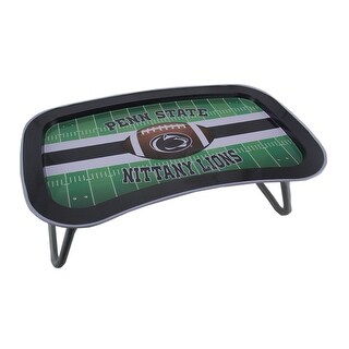 NCAA Penn State Nittany Lions Multi-function Metal Lap Tray Folding Legs 22 Inch - Black