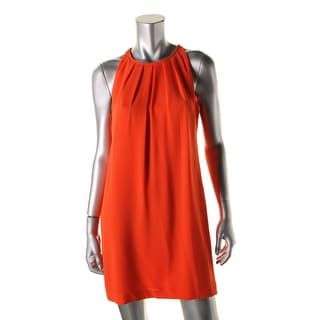 BCBG Max Azria Womens Crepe Pleated Wear to Work Dress