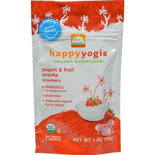 Happy Family - Organic Superfoods Yogurt And Fruit Snacks - Strawberry ( 8 - 1 OZ)