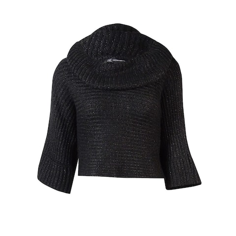 INC International Concepts Women's Cowl Cropped Sweater