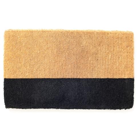 Black Belt Doormat Extra Thick Handwoven, Durable