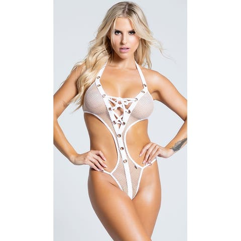 Provocative White Monokini - One Size Fits Most