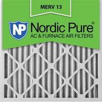 Nordic Pure18x18x2 Pleated MERV 13 AC Furnace Air Filters Qty 12