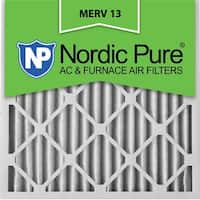 Nordic Pure20x20x2 Pleated MERV 13 AC Furnace Air Filters Qty 12