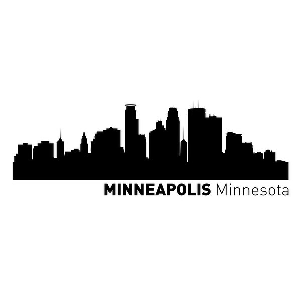Minneapolis, Minnesota Vinyl Skylines Vinyl 48x24