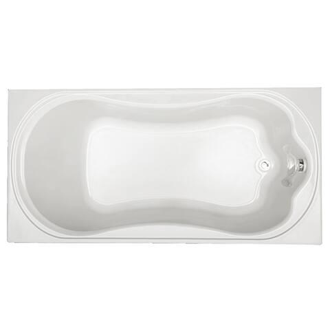 "Mirabelle MIRKWS7236 Key West 72"" X 36"" Drop-In Soaking Tub with Reversible Drain"