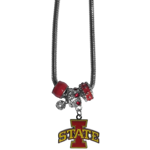 Iowa State Cyclones Necklace Euro Bead Style