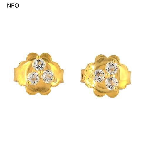 925 Sterling Silver Designer Topaz Stud Earring Semiprecious Stone Jewelry With Jewelry Box