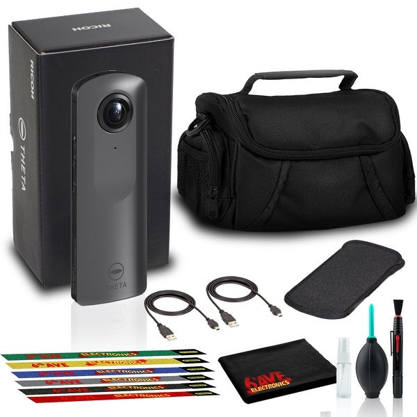 Ricoh THETA V 360 4K Spherical VR Camera with Case, Camera Bag, and. Opens flyout.