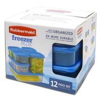 Rubbermaid Freezer Blox 12-Piece Food Storage Set, Clear-Blue