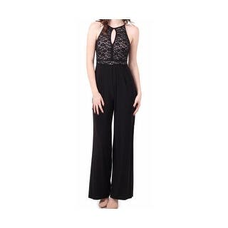Nightway NEW Black Keyhole Women's Size 10 Lace bodice Jumpsuit|https://ak1.ostkcdn.com/images/products/is/images/direct/ec411a326cc73f08513421d37c85680d843aeb3f/Nightway-NEW-Black-Keyhole-Women%27s-Size-10-Lace-bodice-Jumpsuit.jpg?impolicy=medium