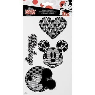 Disney Mickey Mouse Iron-On Transfers-Lace Mickey Mouse Icons