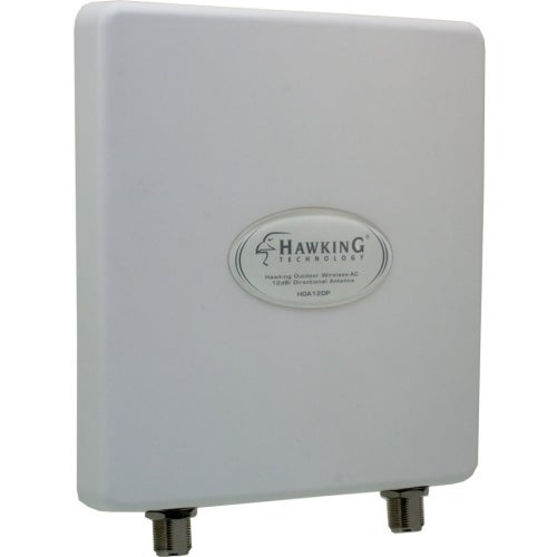 """Hawking Technology HOA12DP Hawking Outdoor Wireless-AC 12dBi Directional Antenna - Range - UHF, VHF2.40 GHz, 5 GHz - 12 dBi -"