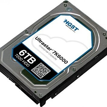 Hgst, A Western Digital Company Ultrastar 7K6000 6000Gb 7200Rpm Sas 512E Ultra Tcg 128Mb Cache 3.5-Inch Internal Bare Or