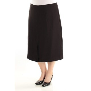 ALFANI $69 Womens New 1184 Black Maxi A-Line Wear To Work Skirt 16 B+B