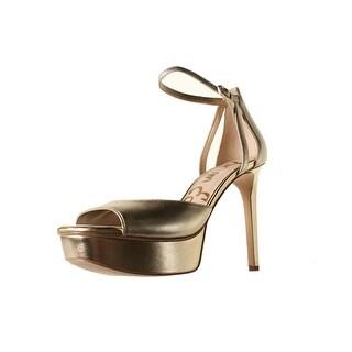 Sam Edelman Womens Kayde Leather Stiletto Platform Heels