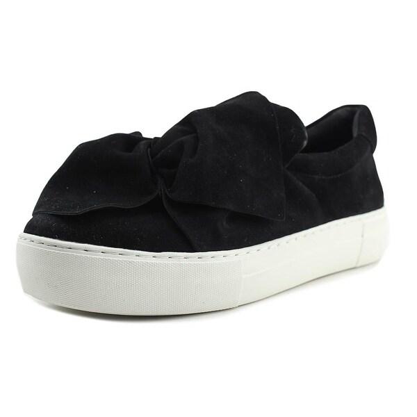 J/Slides Annabelle Women Round Toe Suede Black Loafer