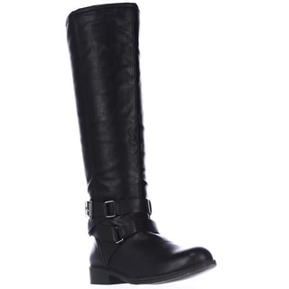 madden girl Corporel Flat Riding Boots - Black