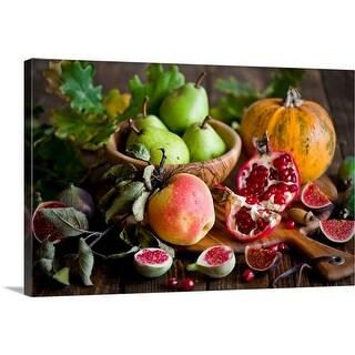 """Autumn fruit"" Canvas Wall Art"