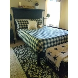 Woolrich Buffalo Check Tan Year Round Oversized Cotton Printed Quilt 3-Piece Set