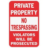 Hy-Ko 12X18 Priv Property Sign