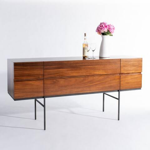 Safavieh Couture High Line Collection Jordan Suar Wood Java Tea Brown Storage Buffet
