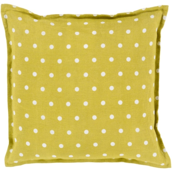 "20"" Moss Green and White Polka Dot Daze Decorative Throw Pillow Shell"