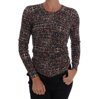 Dolce & Gabbana Brown Wool Top Crewneck Sweater