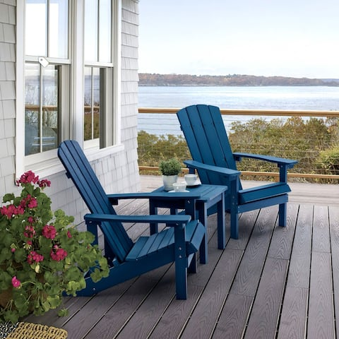 Bonosuki Faux Wood Adirondack Chair Weather Resistant-Set of 2