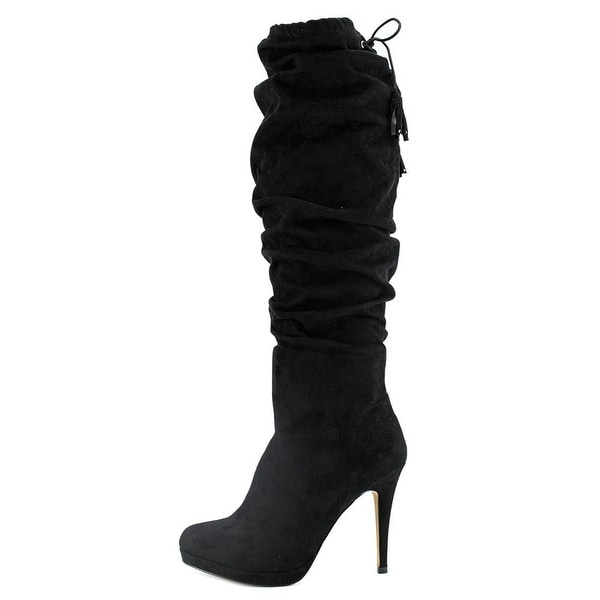 Thalia Sodi Womens Brisa Fabric Almond Toe Knee High Fashion Boots