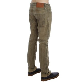 ACHT Green Denim Cotton Stretch Loose Fit Jeans - w34