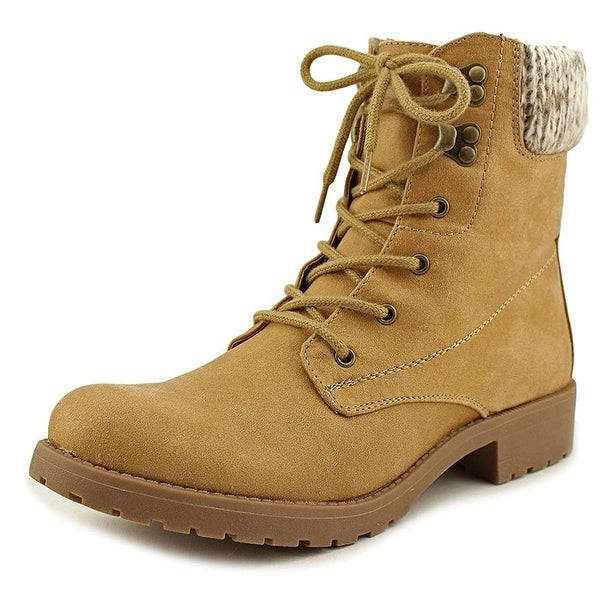 Seven Dials Womens Soha Fabric Closed Toe Ankle, Wheat/Fabric/Sweater, Size 10.0