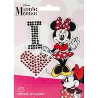 Disney Mickey Mouse Iron-On Applique-I Love Minnie