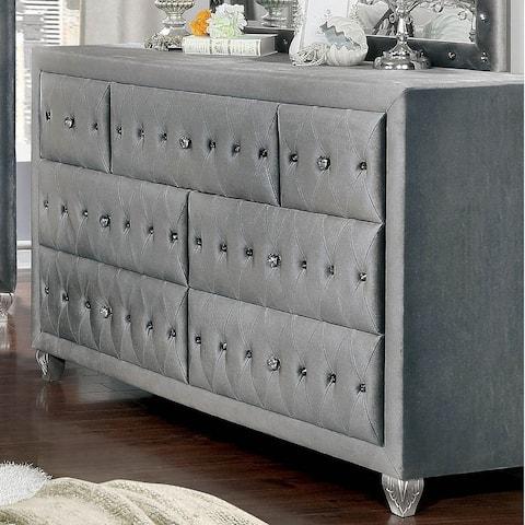 Furniture of America Iasi Transitional 7-drawer Tufted Dresser