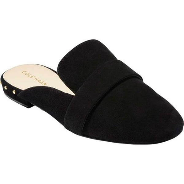 5541e002bd6 Shop Cole Haan Women s Deacon Loafer Mule Black Suede - On Sale ...