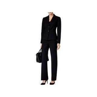 Le Suit Womens Petites Pant Suit 2PC Pinstripe