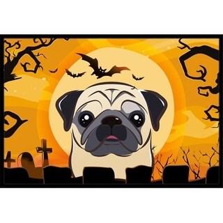 Carolines Treasures BB1820MAT Halloween Fawn Pug Indoor & Outdoor Mat 18 x 27 in.