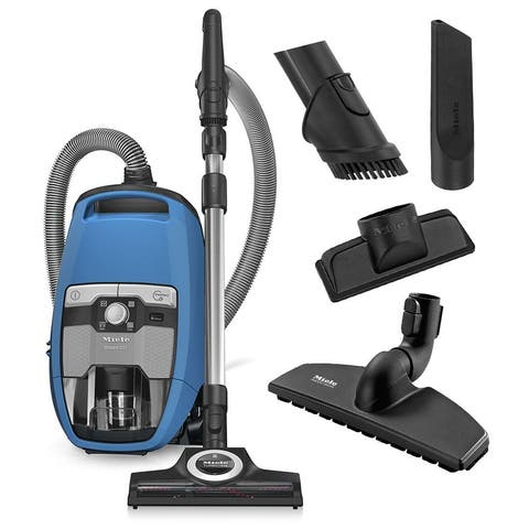 Miele Blizzard CX1 Turbo Team Bagless Canister Vacuum Cleaner + STB 305-3 TurboTeQ Head + SBB 300-3 Parquet Floor Brush + More