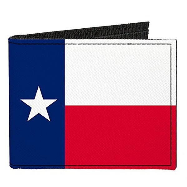 Buckle-Down Canvas Bi-fold Wallet - Texas Flag Accessory