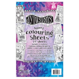 "Holiday - Dyan Reaveley's Dylusions Colouring Sheets 5""X8"""