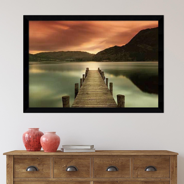 Framed Art Print Ullswater Glenridding Cumbria By Mel Allen 42 X 30 Inch Overstock 9172138