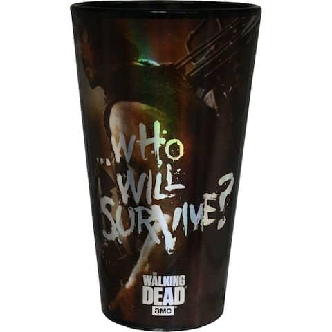 Walking Dead Who Will Survive Black Pint Glass