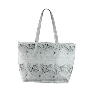 """17"""" Iceware White Marble Insulated Lunch Tote Bag"""